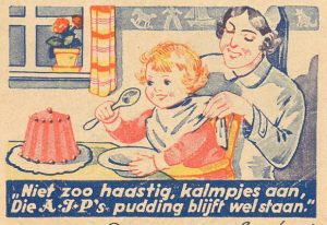 reclame pudding A.J.P.