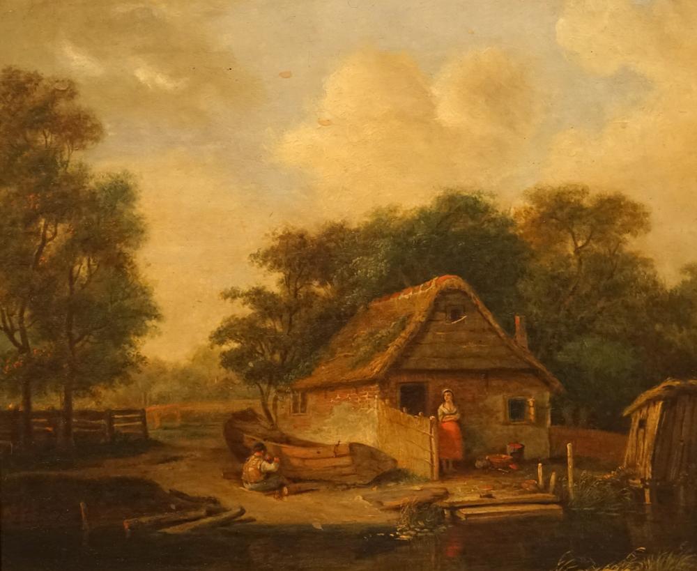 Afbeelding: schilderij Huis aan het water 1806, door Albarta ten Oever