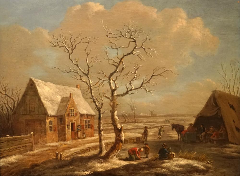 Afbeelding: winterlandschap, 1807 door Albarta ten Oever